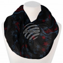 Ladies Loop Scarf Stars Paisley black