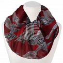 Ladies loop scarf flowers flowers leaves floral re