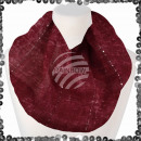 Women's loop scarf with sequins abstract