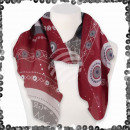 Women's scarf with sequins Greece shapes circl