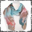 Großhandel Fashion & Accessoires: Damen Schal mit Pailletten Linien Blumen Blüten