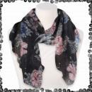 Großhandel Fashion & Accessoires: Damen Schal mit Pailletten Pailletten Blätter