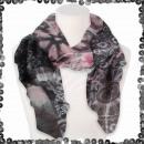 Großhandel Tücher & Schals: Damen Schal mit Pailletten Paisley Ornamente Batik
