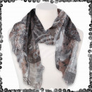 Großhandel Fashion & Accessoires: Damen Schal mit Pailletten Paisley Ornamente Batik