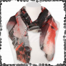 Großhandel Fashion & Accessoires: Damen Schal mit Pailletten Blumen Blüten Blätter