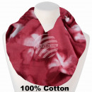 Women's Loop Scarf Flowers Flowers washed out