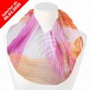 Damen Schal Loopschal Loop multicolor gestreift
