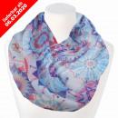 Damen Schal Loopschal Loop blau Mandala