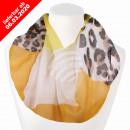 Damen Schal Loopschal Loop weiß Leopard gefleckt