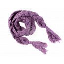 Damen Herren Schal unifarben lila