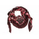Ladies Scarf  Design: Flower color: brown