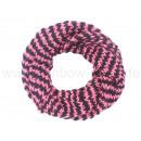 Damen Herren Schal Streifen rosa