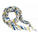 Ladies Scarf Design: stripes Color: white