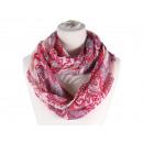 Damen Herren Schal. Blumenornamente, rosé