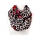 Damen Herren Schal Leopard Schmetterlinge rot
