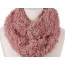 Damen Herren Schal unifarben rosa