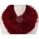 Damen Herren Schal unifarben rot