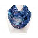 Damen Herren Schal Ornamente blau