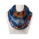 Damen Herren Schal Floral blau