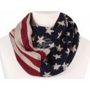 Damen Herren Schal USA Flagge weiss