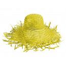 Cappello di paglia giallo taglia unica Ø Cappello