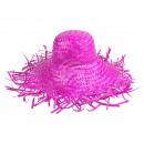 Großhandel Kopfbedeckung:Strohhüte rosa