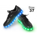 LED shoes color: black, size: 37