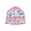 Knitted Hat Long Beanie Slouch Hat pink blue