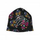 Knitted Hat Long Beanie Slouch black Grimassen