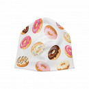 Knitted Hat Long Beanie Slouch Beanie White Donuts