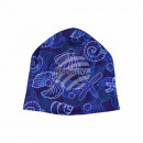 Knitted Hat Long Beanie Slouch Beanie blue violet
