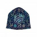 Knitted Hat Long Beanie Slouch Beanie dark blue
