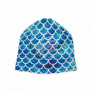Knitted Hat Long Beanie Slouch Beanie blue green
