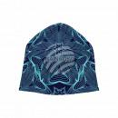 Knitted Hat Long Beanie Slouch Beanie blue stars
