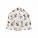 Knitted Hat Long Beanie Slouch Beanie White Dogs