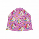 Knitted Hat Long Beanie Slouch Hat pink unicorn
