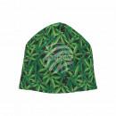 Knitted Hat Long Beanie Slouch Beanie black hemp