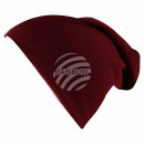 Großhandel Fashion & Accessoires: Long Beanie Slouch Mütze rot weinrot einfarbig