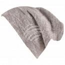 Long Beanie Slouch Mütze grau hellgrau meliert
