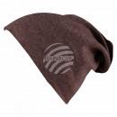 Long Beanie Slouch Mütze braun hellbraun einfarbig