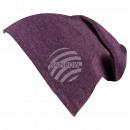Long Beanie Slouch Mütze lila violett einfarbig