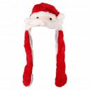 Wackelohr Mütze Weihnachtsmann, Santa rot, weiß ca