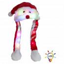 groothandel Verkleden & feestkleding: Bobble-kerstman Kerstman LED 3 lichtmodi