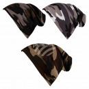 Long Beanie Slouch Mütze grau braun schwarz