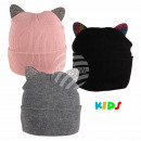 Long beanie slouch beanie pink black gray