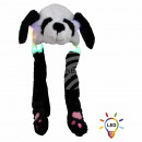 Wackelohr Mütze mit LED Beleuchtung Panda