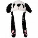 Wackelohr Mütze Panda, Pandabär Schwarz, Weiß