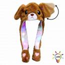 LED Wackelohr Mütze Hund weiß ca. 30 cm x 54 cm