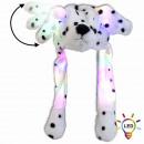 LED Wackelohr Mütze Dalmatiner Hund weiß schwarz g