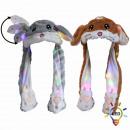 LED Wackelohr Mütze Hamster Chinchilla grau braun